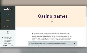 Screenshot 3 Casumo Casino