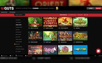 Screenshot 1 Guts Casino