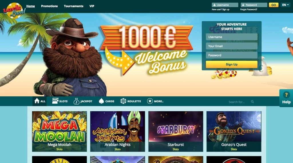 Screenshot 1 Luckland Casino