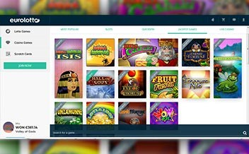 Screenshot 1 EuroLotto Casino